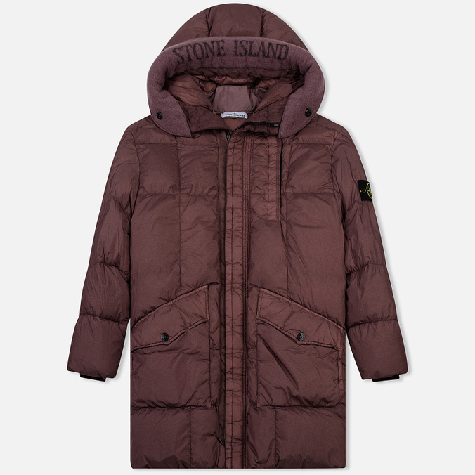Мужская куртка парка Stone Island Garment Dyed Crinkle Reps Nylon Down Pink Quartz