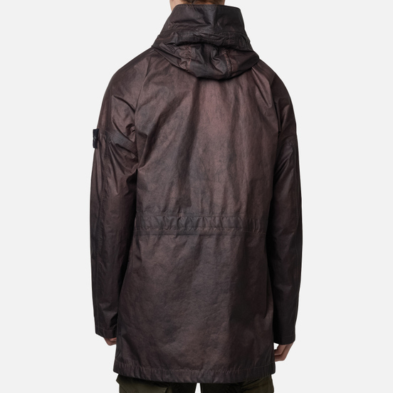 Мужская куртка парка Stone Island Membrana 3L Dust Colour Finish Manogany Brown