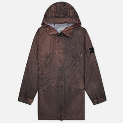 Мужская куртка парка Stone Island Membrana 3L Dust Colour Finish Manogany Brown