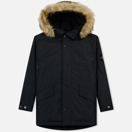 Мужская куртка парка Stone Island Micro Reps Down Coal Grey
