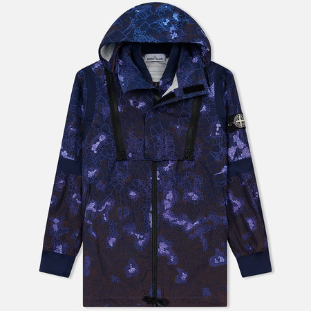 Мужская куртка парка Stone Island Printed Heat Reactive Tessuto Termo Sensibile Navy Blue