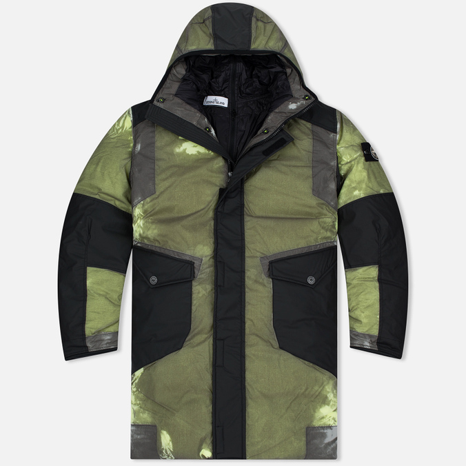 Stone Island Resin-T Shell Down Ice Men's Padded Jacket Green/Black
