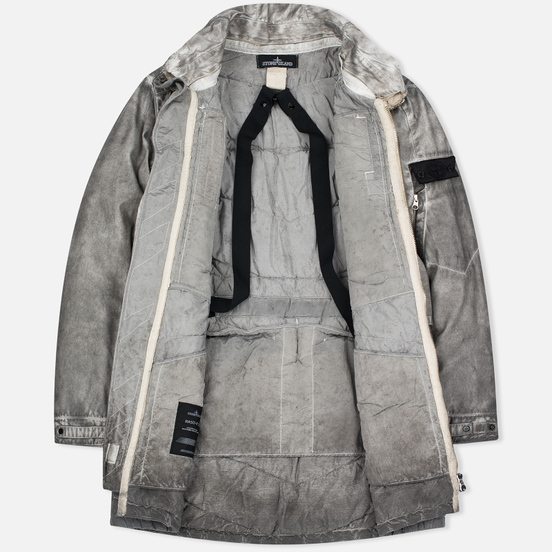 Мужская куртка парка Stone Island Shadow Project Double Front Raso-R/Nylon Metal Grey