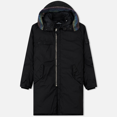 Мужская куртка парка Stone Island Shadow Project Down Fishtail Drop Pocket Black