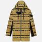 Мужская куртка парка Stone Island Shadow Project DPM Chine Jacquard Mustard фото - 0