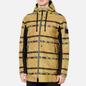 Мужская куртка парка Stone Island Shadow Project DPM Chine Jacquard Mustard фото - 3
