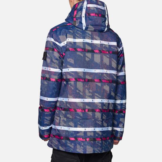 Мужская куртка парка Stone Island Shadow Project DPM Chine Jacquard Royal