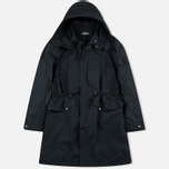 Мужская куртка парка Stone Island Shadow Project Fishtail Diagonal Nylon Black фото- 0