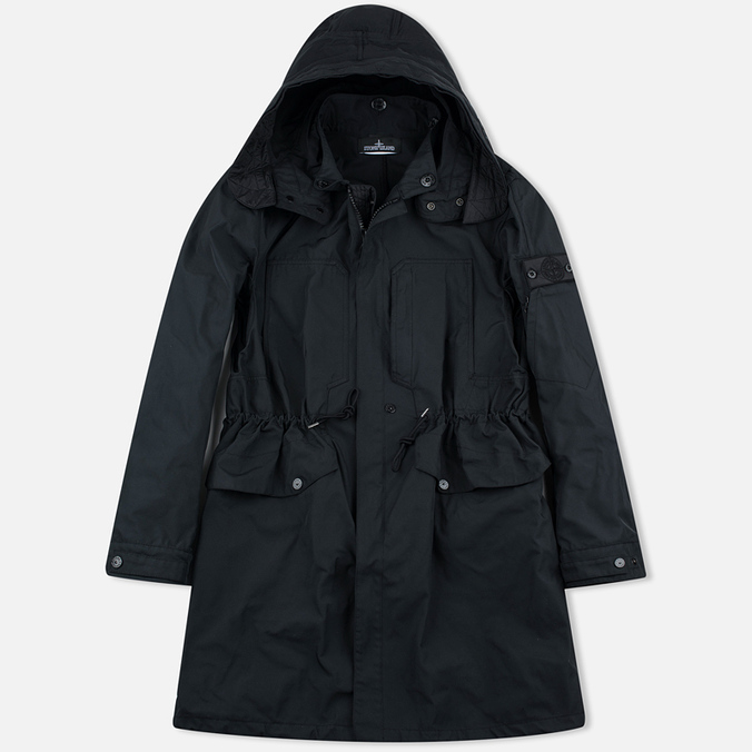 Мужская куртка парка Stone Island Shadow Project Fishtail Diagonal Nylon Black