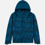 Мужская куртка ветровка Stone Island Shadow Project Jacquard Viscosa Nylon Turquoise Blue фото- 0