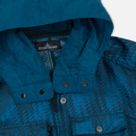 Мужская куртка ветровка Stone Island Shadow Project Jacquard Viscosa Nylon Turquoise Blue фото- 2