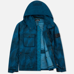 Мужская куртка ветровка Stone Island Shadow Project Jacquard Viscosa Nylon Turquoise Blue фото- 1