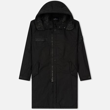 Мужская куртка парка Stone Island Shadow Project Padded Fishtail Black