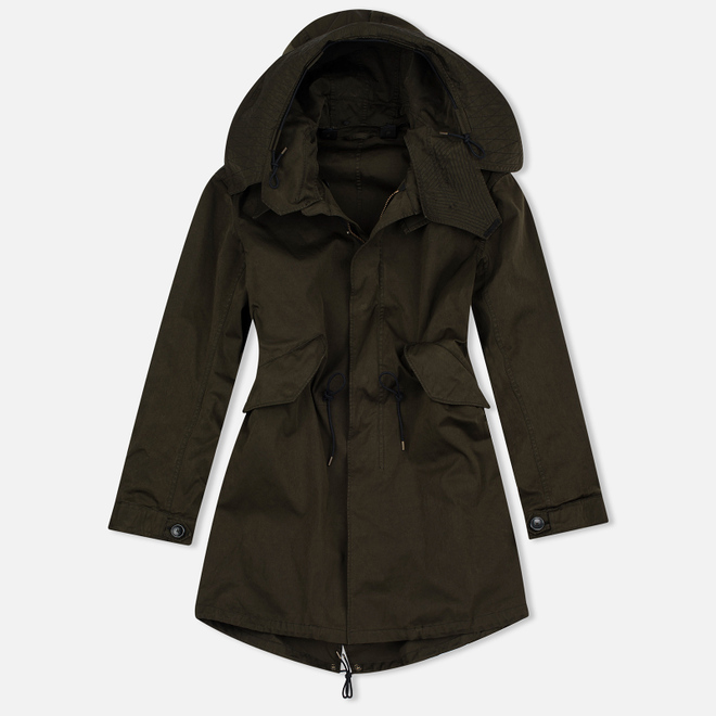 Мужская куртка парка Ten C Parka Dark Olive