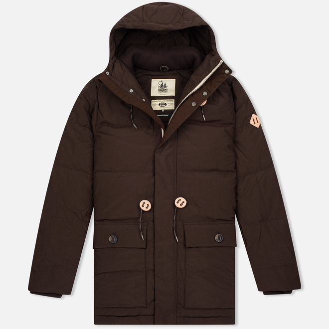 Мужская куртка парка Uniformes Generale Janssen Real Down Expedition Choc Brown