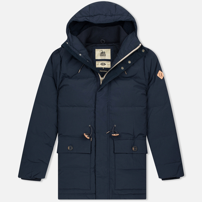 Мужская куртка парка Uniformes Generale Janssen Real Down Expedition Super Marine Navy