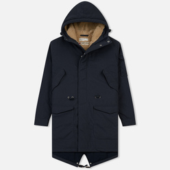 Мужская куртка парка Universal Works Insulated British Mill Hobnail Navy
