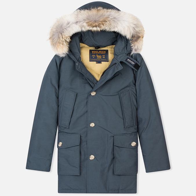 Мужская куртка парка Woolrich Arctic DF Blue Grey