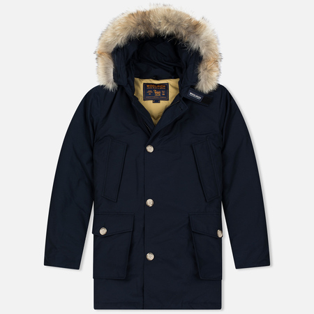 Woolrich Arctic DF Men's Parka Melton Blue