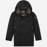 Мужская куртка парка Woolrich Long Mackinaw Black фото- 0