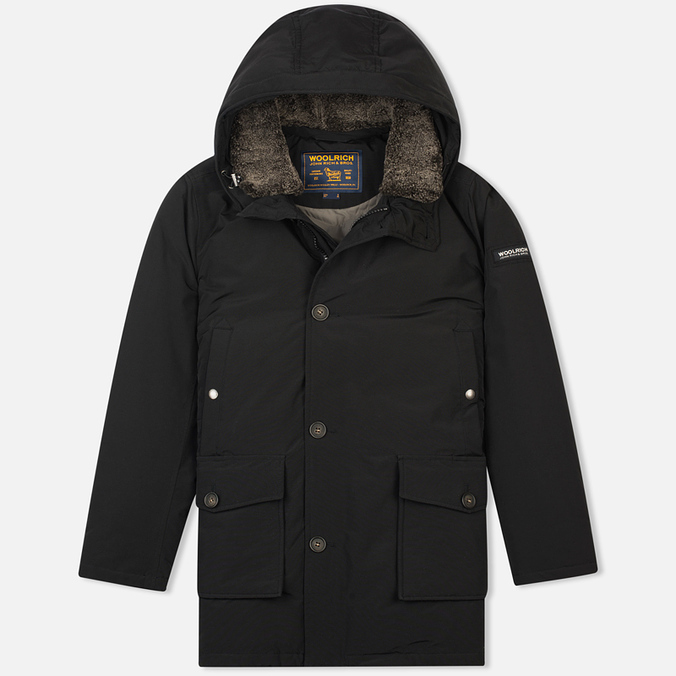 Мужская куртка парка Woolrich Long Mackinaw Black