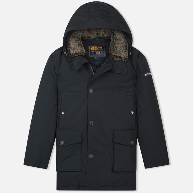 Мужская куртка парка Woolrich Long Mackinaw Dark Navy