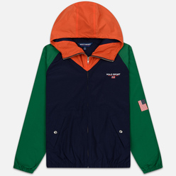 Мужская куртка Polo Ralph Lauren Color Block Windbreaker Cruise Navy/Jerry Green/Bitter Sweet Orange