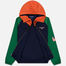 Мужская куртка Polo Ralph Lauren Color Block Windbreaker Cruise Navy/Jerry Green/Bitter Sweet Orange фото- 2