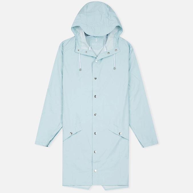 Мужская куртка дождевик Rains Long Jacket Wan Blue