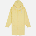 Rains Long Jacket Wax Men's Rain Jacket Yellow photo- 0