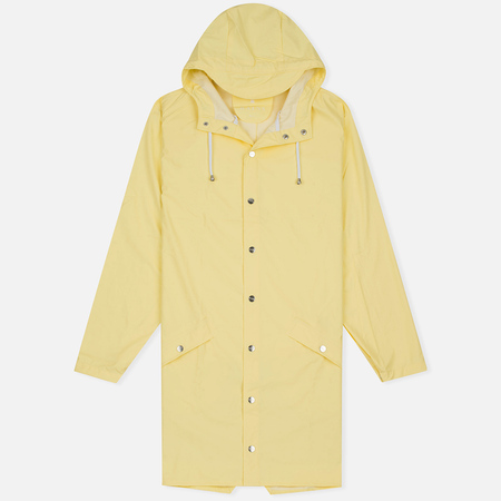 Rains Long Jacket Wax Men's Rain Jacket Yellow
