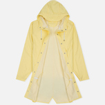 Rains Long Jacket Wax Men's Rain Jacket Yellow photo- 1