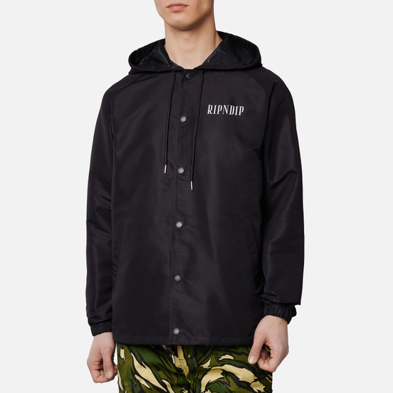 Мужская куртка RIPNDIP Lights Out Hooded Coaches Black