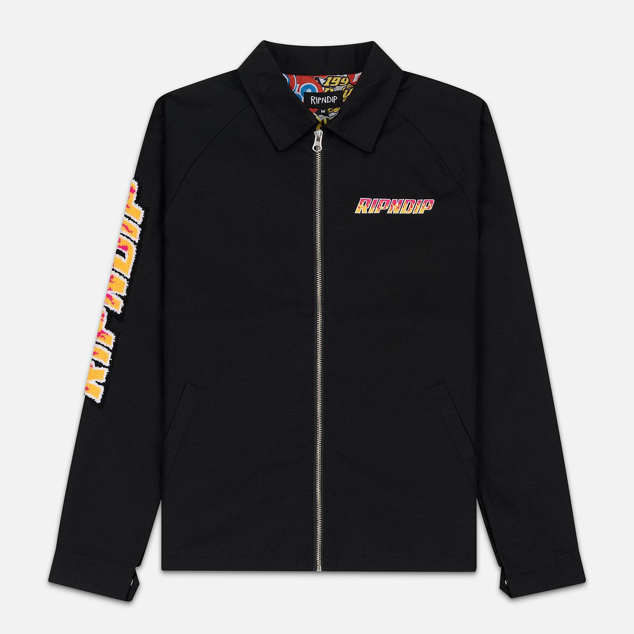 Мужская куртка RIPNDIP Racing Team Cotton Twill Coach Black