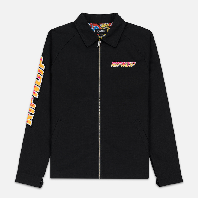 Мужская куртка RIPNDIP Racing Team Cotton Twill Coach Black