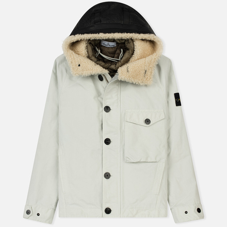 Мужская куртка Stone Island David-TC Detachable Lining Ice White