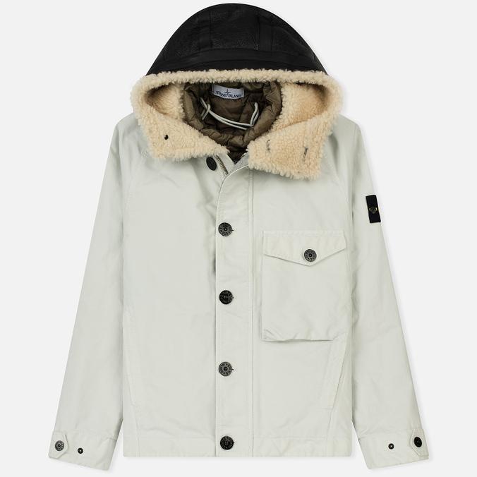 Мужская куртка Stone Island David-TC Detachable Lining Ice White