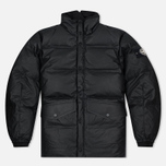 Мужская куртка Stone Island Featherweight Leather Down Black фото- 0