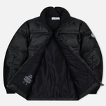 Мужская куртка Stone Island Featherweight Leather Down Black фото- 1