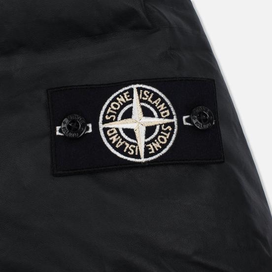 Мужская куртка Stone Island Featherweight Leather Down Black