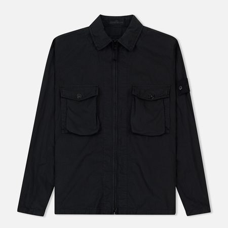 Мужская куртка Stone Island Ghost Piece Zip Overshirt Black