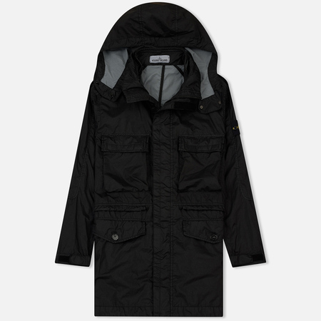 Мужская куртка Stone Island Long Membrana 3L TC Black