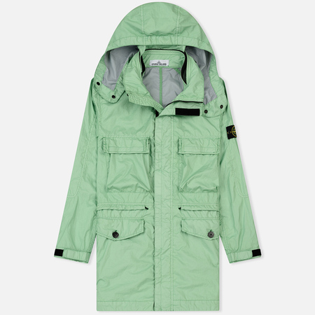 Мужская куртка Stone Island Long Membrana 3L TC Light Green