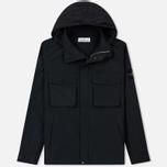 Мужская куртка Stone Island Micro Reps Zip Pocket Black фото- 0