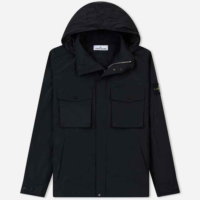 Мужская куртка Stone Island Micro Reps Zip Pocket Black