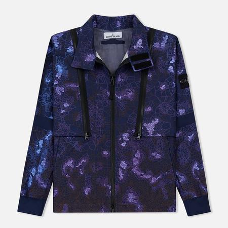 2ac55c7a454 Мужская куртка Stone Island Printed Heat Reactive Thermosensitive Fabric  Navy Blue