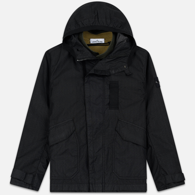 Мужская куртка Stone Island Reflective Weave Ripstop-TC Black