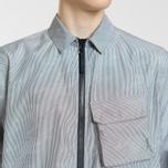 Мужская куртка Stone Island Shadow Project Lenticular Jacquard Zip Shirt Black фото- 2