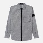 Мужская куртка Stone Island Shadow Project Lenticular Jacquard Zip Shirt Black фото- 0