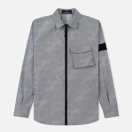Мужская куртка Stone Island Shadow Project Lenticular Jacquard Zip Shirt Black